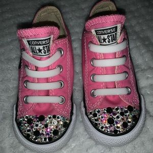 Custom made blinged out converse!